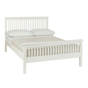 Atlanta White Painted Furniture Double 4ft6 Bed