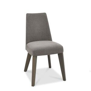 Cadell Oak Furniture Smoke Grey Upholstered Dining Chair Pair