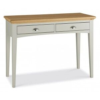 Hampstead Soft Grey & Pale Oak Furniture 2 Drawer Dressing Table