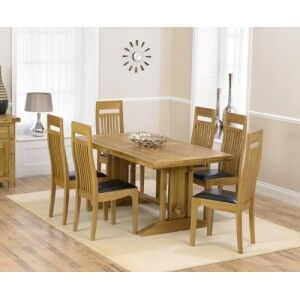 Cavanaugh Oak All Sides Extending Table & 6 Monte Carlo Chairs