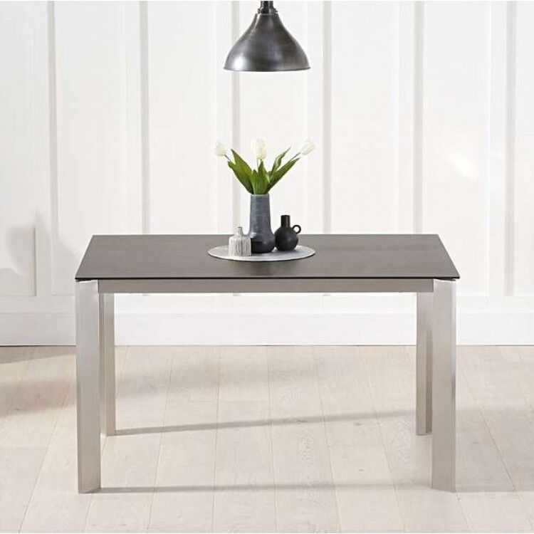 Alejandra Furniture 130cm Mink Spanish Ceramic Dining Table