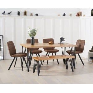 Mark Harris Industrial Reviro Table 160cm with Damanti Chairs & Bench