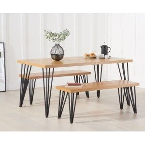 Mark Harris Industrial Reviro Table 160cm with 2 Reviro Benches