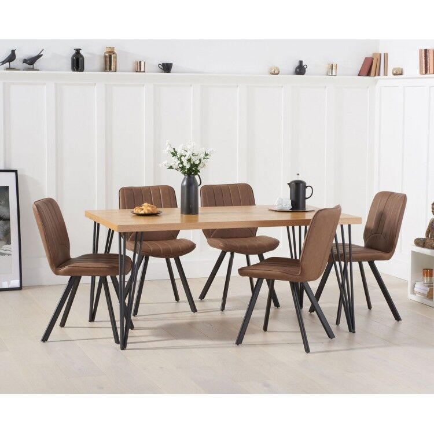 Mark Harris Industrial Reviro Dining Table 160cm & Damanti Set