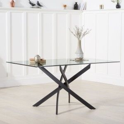 Mark Harris Marina Industrial Furniture Glass Dining Table 160cm