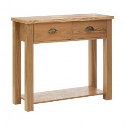 Westbury Oak Furniture Console Table with Shelf