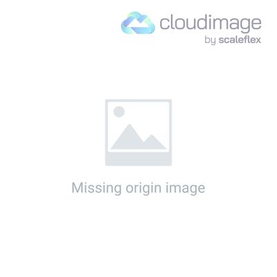 Vida Living Kalmar Glass & Steel Furniture Round Dining Table 110cm