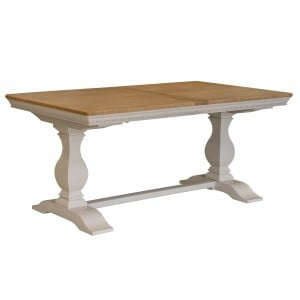 Vida Living Winchester Oak & Painted Dining Table 180-230cm