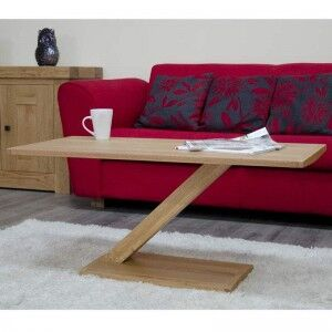 Z Solid Oak Furniture Modern Coffee Table
