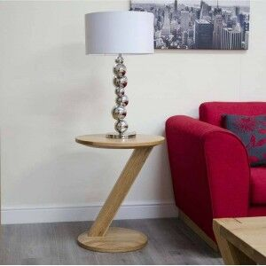Z Solid Oak Furniture Modern Lamp Table