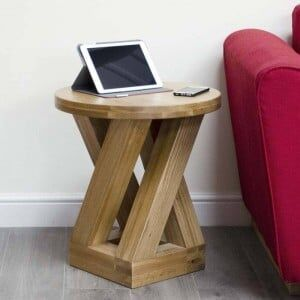Z Solid Oak Furniture 4 Leg Lamp Table