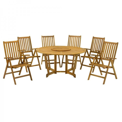 Royalcraft Garden Furniture Henley Wooden 6 Seater Gateleg Dining Set
