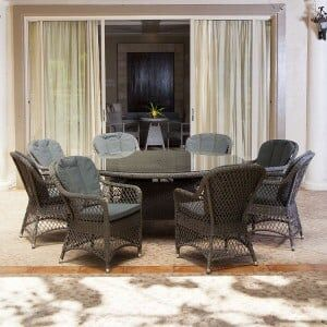 Alexander Rose Monte Carlo Garden 8 Open Weave Chair Round Dining Set