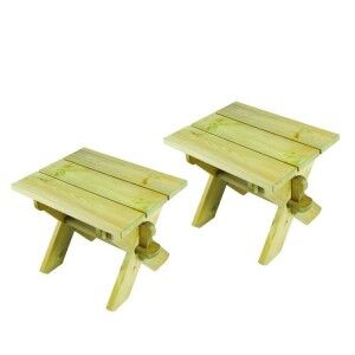 Alexander Rose Garden Furniture Solid Pine Farmers Stool (Pair)