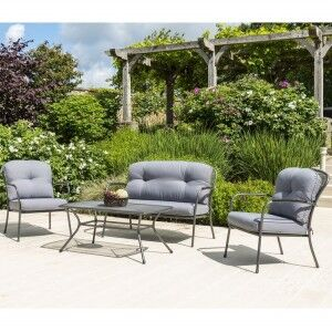 Alexander Rose Portofino Garden 2 Seater Sofa Lounge Set with Coffe Table