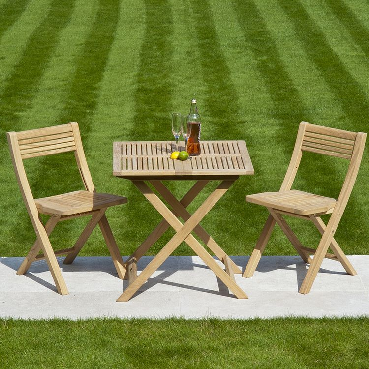 Alexander Rose Garden Furniture Roble Folding Tea For Two Set
