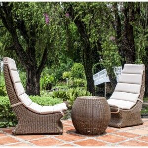 Alexander Rose San Marino Set Of Lazy Chairs With Side Table