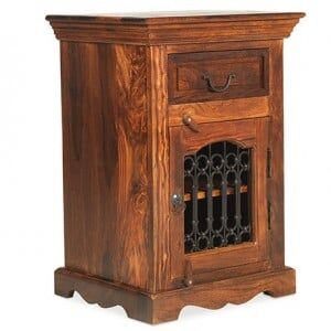 Kanpur Indian Sheesham Bedside Cabinet - Right