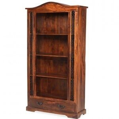Kanpur Indian Sheesham Tall Bookcase - 1 Drawer