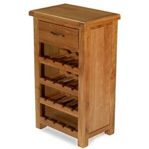 Saltaire Oak Furniture Small Wine Cabinet