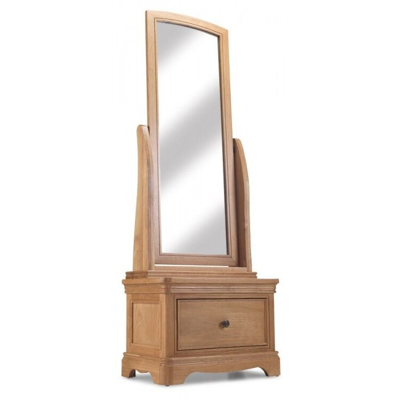 Vezelay Natural Oak Furniture Cheval Mirror