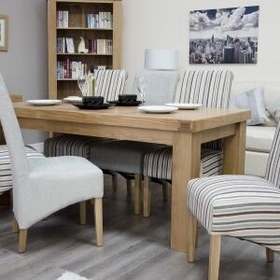 Bordeaux Solid Oak Furniture 180cm Dining Table