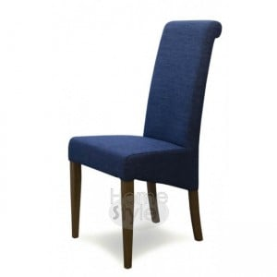 Homestyle Opus Oak Furniture Italia Blue Fabric Chair (Pair)