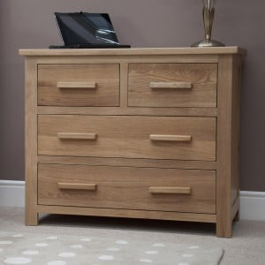 Opus Solid Oak Furniture 2 over 2 Chest of Drawers