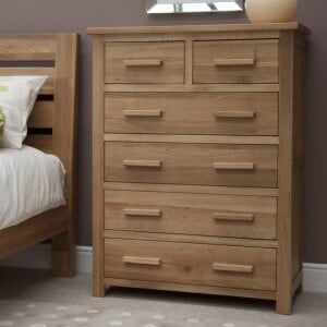 Opus Solid Oak Furniture 2 over 4 Chest of Drawers