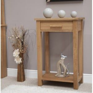 Opus Solid Oak Furniture Small Hall Console Table