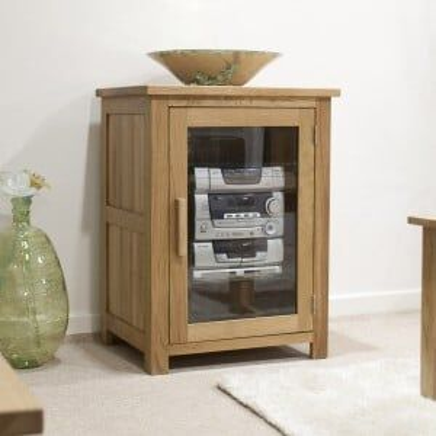Opus Solid Oak Furniture HiFi Unit