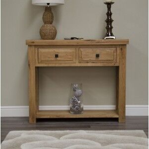 Deluxe Solid Oak Furniture Console Table