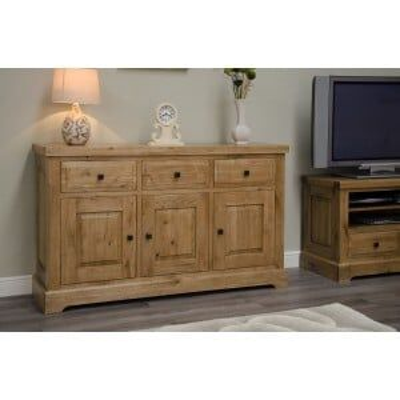 Deluxe Solid Oak Furniture Large Sideboard