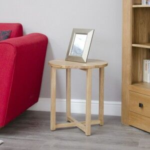 Opus Solid Oak Furniture Round Lamp Table