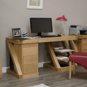 Z Solid Oak Furniture Large Computer Desk