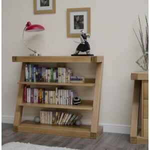 Z Solid Oak Furniture Small Bookcase
