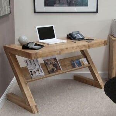 Opus Solid Oak Furniture Z Style Office Desk