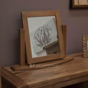 Rustic Solid Oak Furniture Dressing Table Mirror