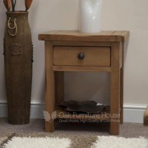 Rustic Solid Oak Furniture Lamp Table