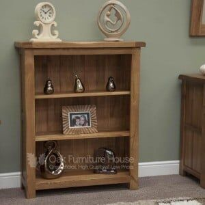 Rustic Solid Oak Furniture Small Bookcase