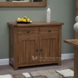 Rustic Solid Oak Furniture Small Sideboard