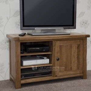 Rustic Solid Oak Furniture TV Plasma Unit