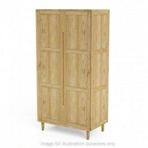 Scandic Solid Oak Furniture Double Wardrobe