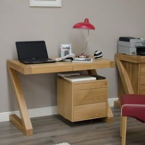 Z Solid Oak Furniture Small Computer Desk