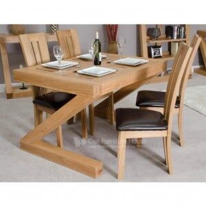 Z Solid Oak Furniture 4ft x 3ft Dining Table