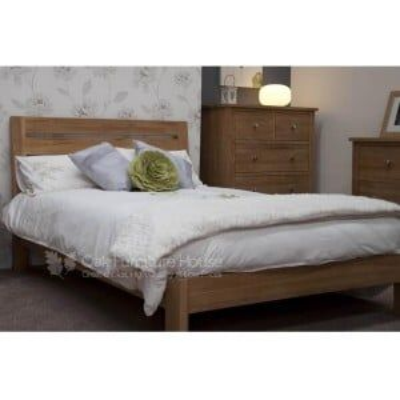 Trend Solid Oak Furniture Slatted 6ft Super King Size Bed