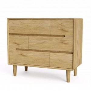 Scandic Solid Oak Furniture 3+3 Chest of Drawers