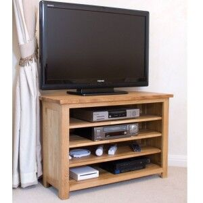 Opus Solid Oak Furniture Corner TV Unit