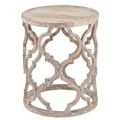 Hanoverian Reclaimed Pine Furniture Lattice Lamp Table