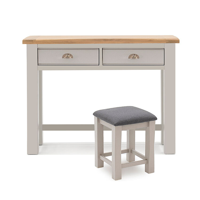 Vida Living Amberly Painted & Oak Dressing Table & Stool Set